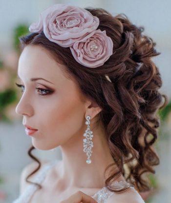 украшение свадебной прически цветами
