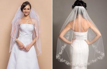 прически для невесты с фатой