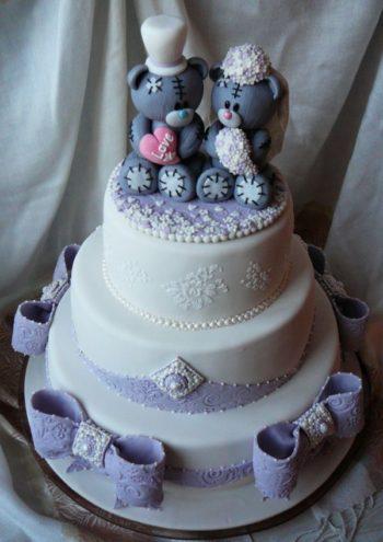 свадебные мишки для украшения торта