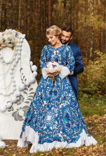 Роскошное русское платье