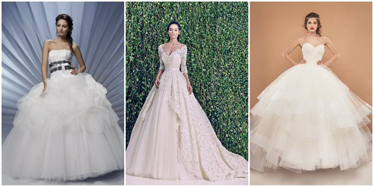 Примеры свадебных нарядов