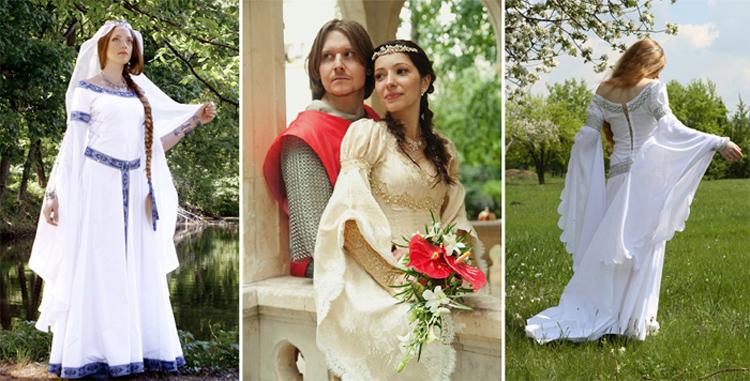 примеры свадебных средневековых нарядов