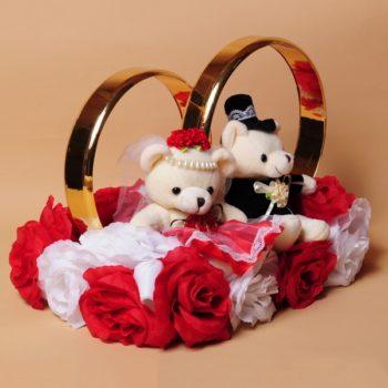 свадебные мишки и кольца