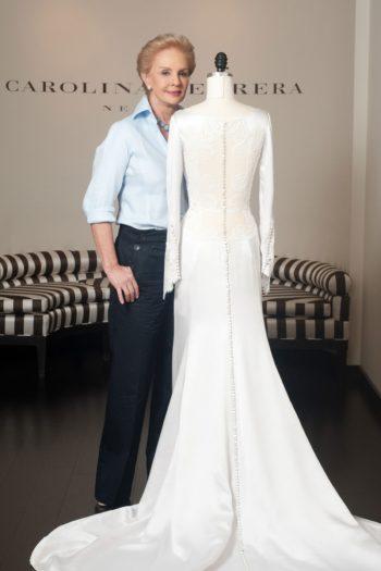 платье дизайнера Carolina Herrera
