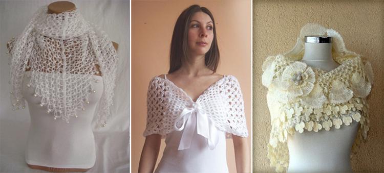 Палантин для платья невесты