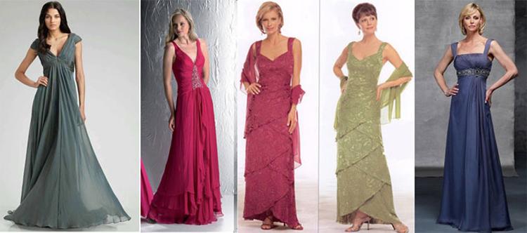 длина платьев для мам