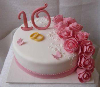 торт на 10-летие свадьбы