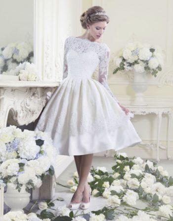 платье невесты в стиле ретро