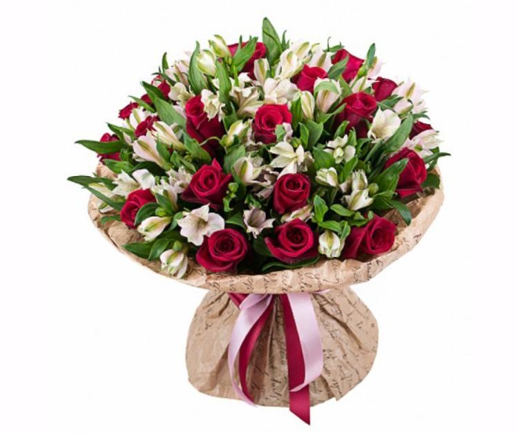 Букет невесты 💐 из альстромерий и роз: фото красивых вариантов