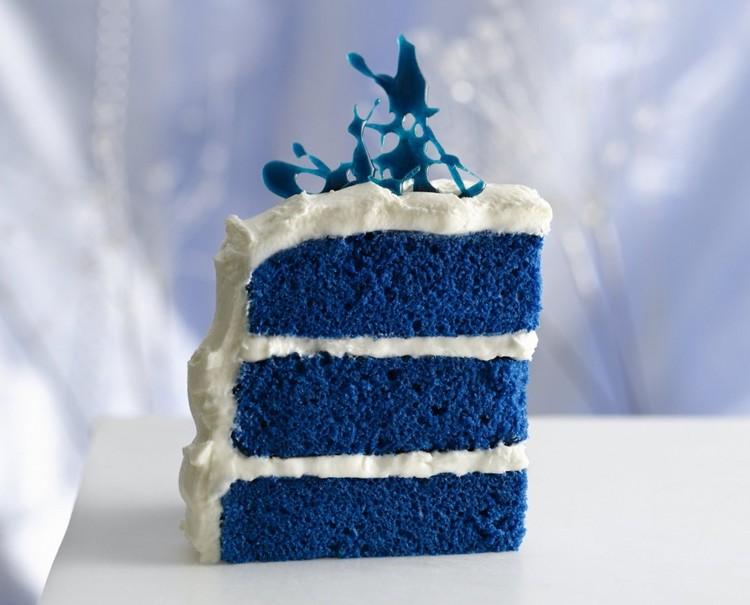 Синий свадебный торт 🥧: фото красивых тортов в синих тонах