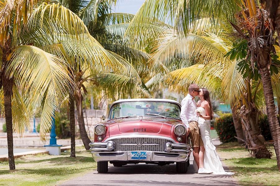 Фото молодоженов на Кубе