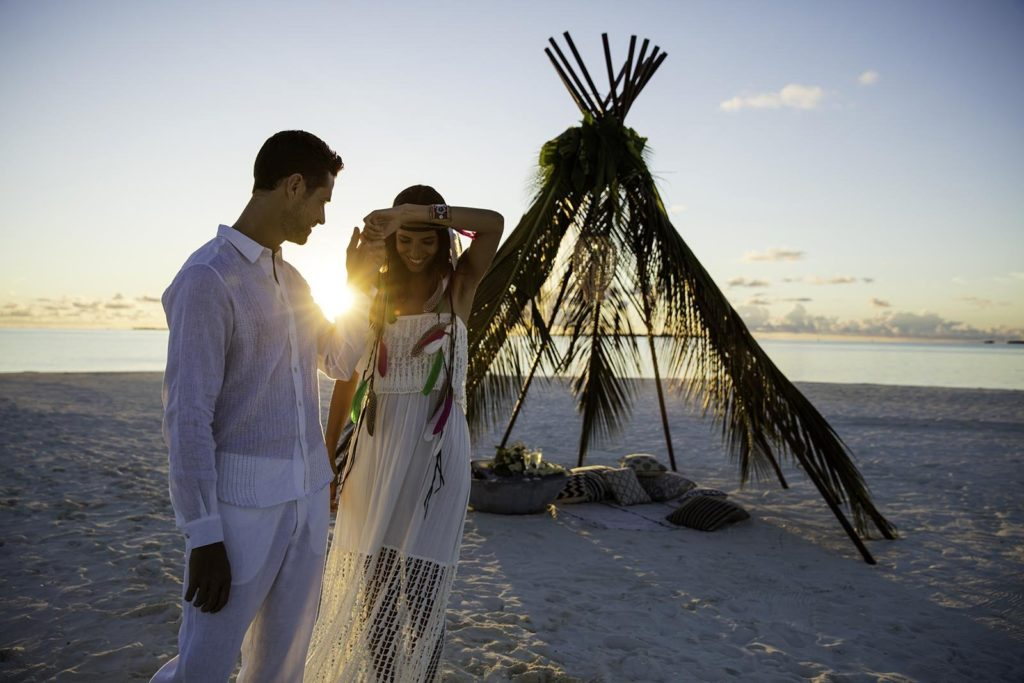 Фото свадьбы влюбленных на Мальдивах