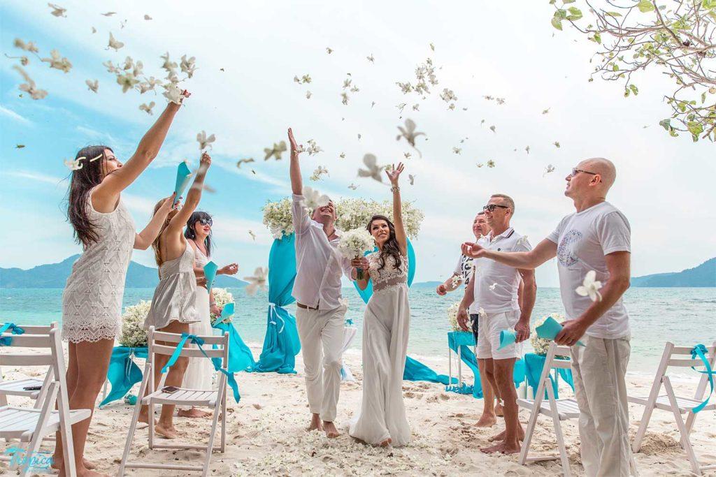 Празднование свадьбы на Мальдивах