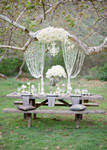 Пятнадцатый юбилей свадьбы на природе