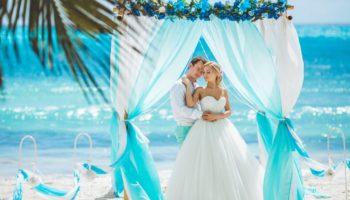 Бирюзовый стиль свадьбы