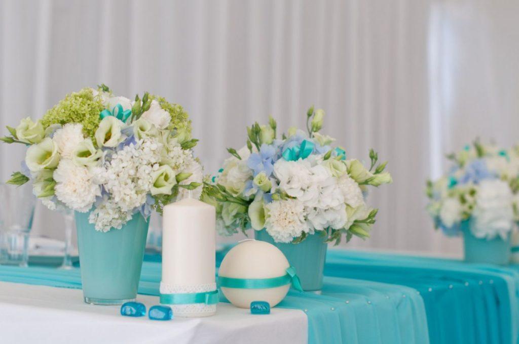 Декор бирюзовой свадьбы