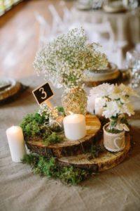 Декорация рустикальной свадьбы