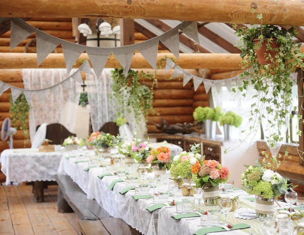 Деревенская свадьба на природе