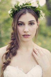 Естественный мейкап невесты для деревенской свадьбы