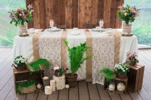 Фото оформления деревянной свадьбы
