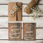 Фото пригласительных открыток на свадьбу рустик