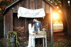 Фото рустикальной свадьбы осенью