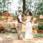 Фотосессия 6 на свадьбе в стиле рустик
