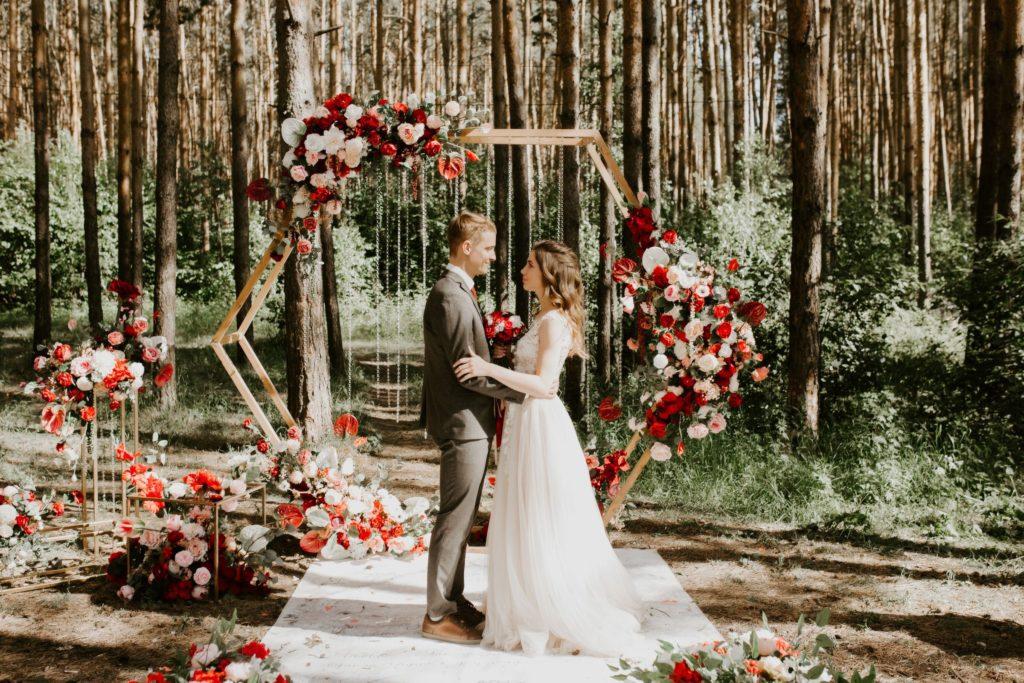 Фотосессия на свадьбе на природе