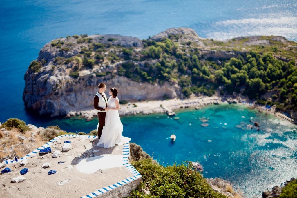 Фотосессия на свадьбе в Греции