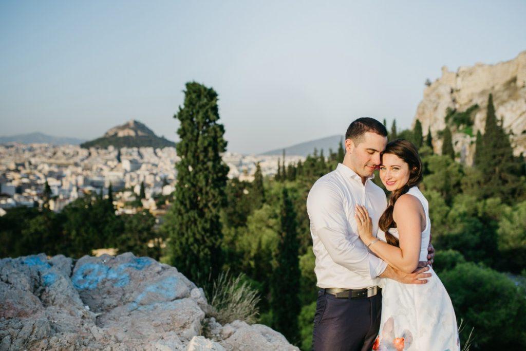 Фотосессия влюбленной пары в туре в Греции