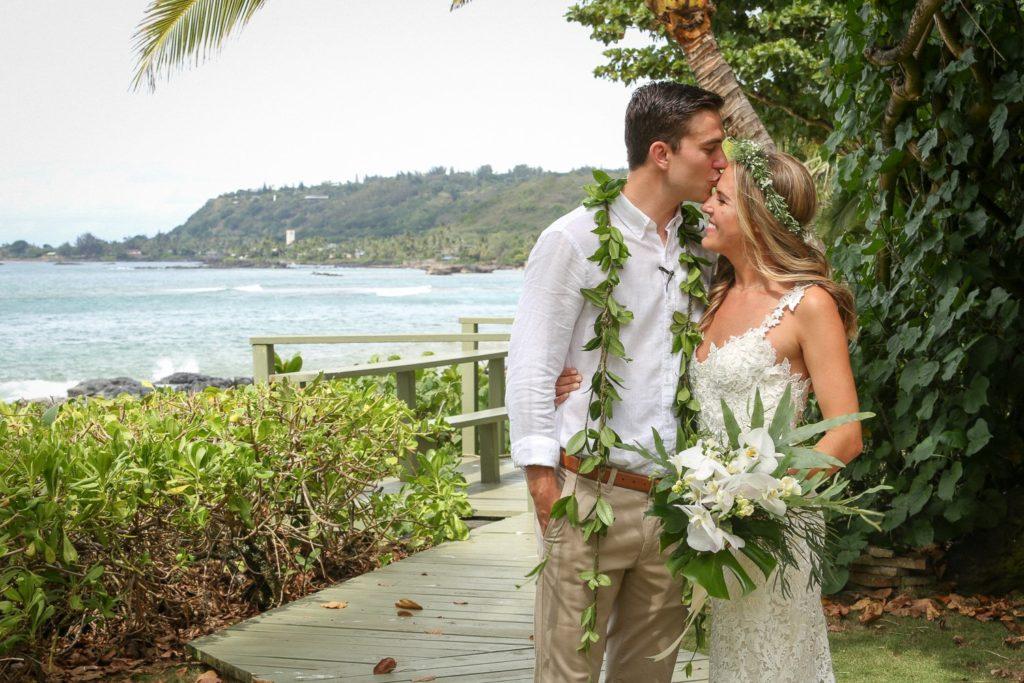 Гавайская свадьба на природе