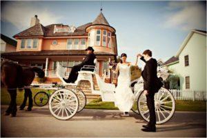 Карета на свадьбу в стиле рустик