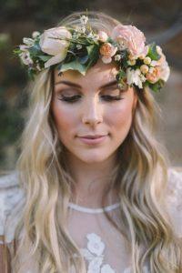 Мейк невесты для свадьбы в стиле рустик