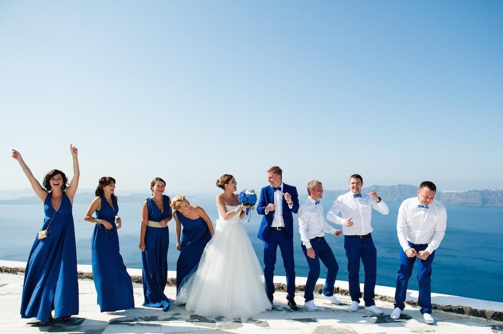 Наряд гостей на свадьбе в Греции