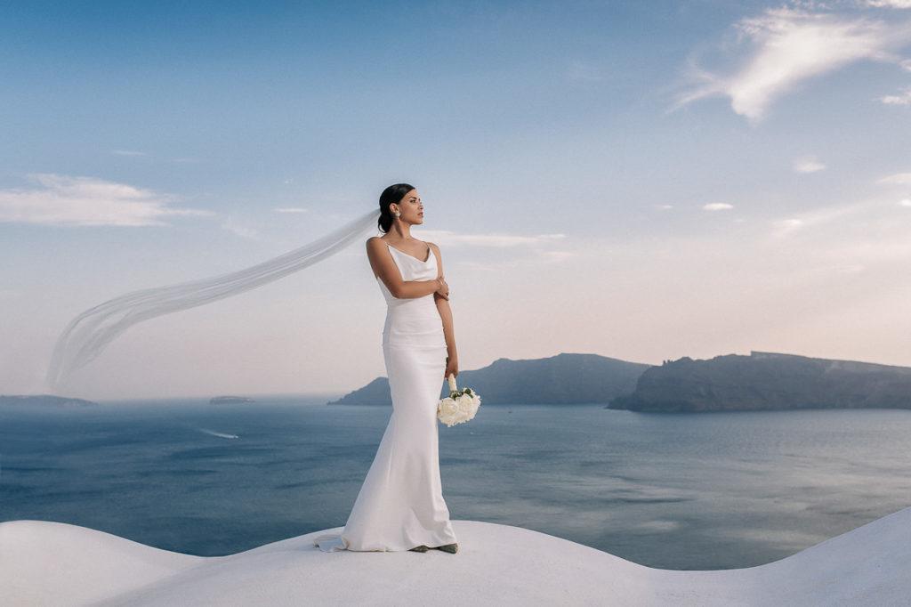 Наряд невесты на свадьбе в Греции