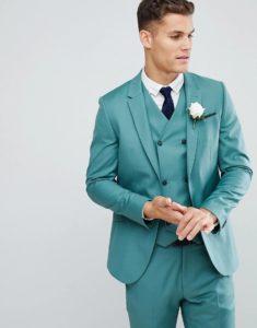 Наряд жениха на бирюзовую свадьбу