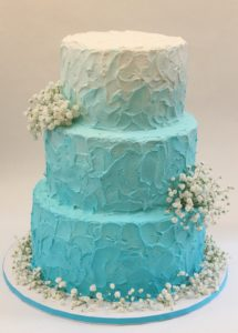 Оформление торта на бирюзовую свадьбу