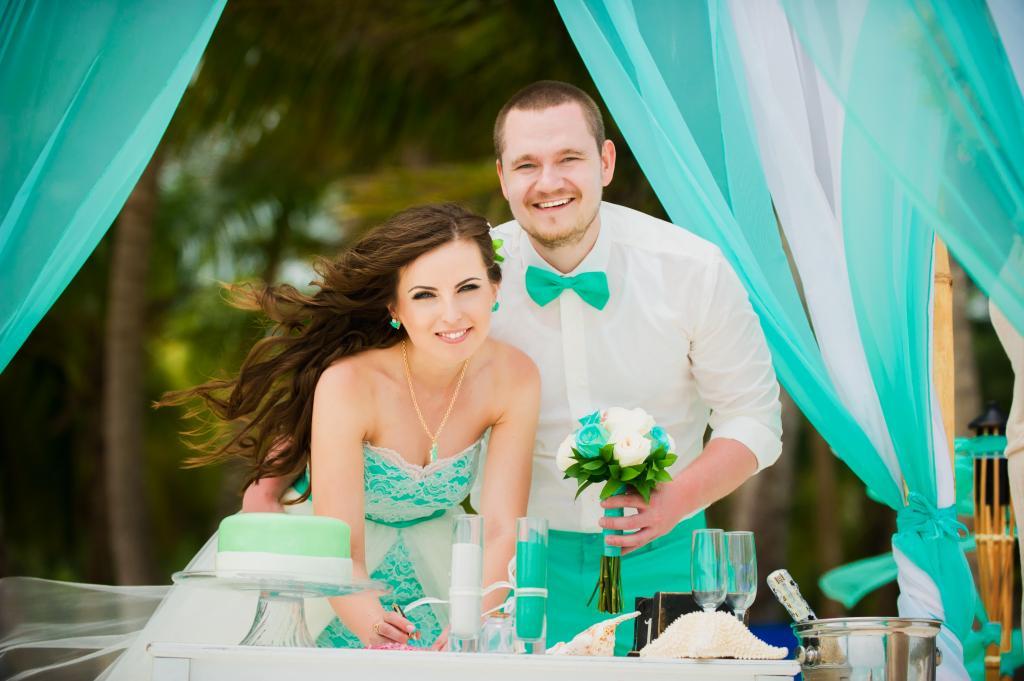 Празднование бирюзовой свадьбы