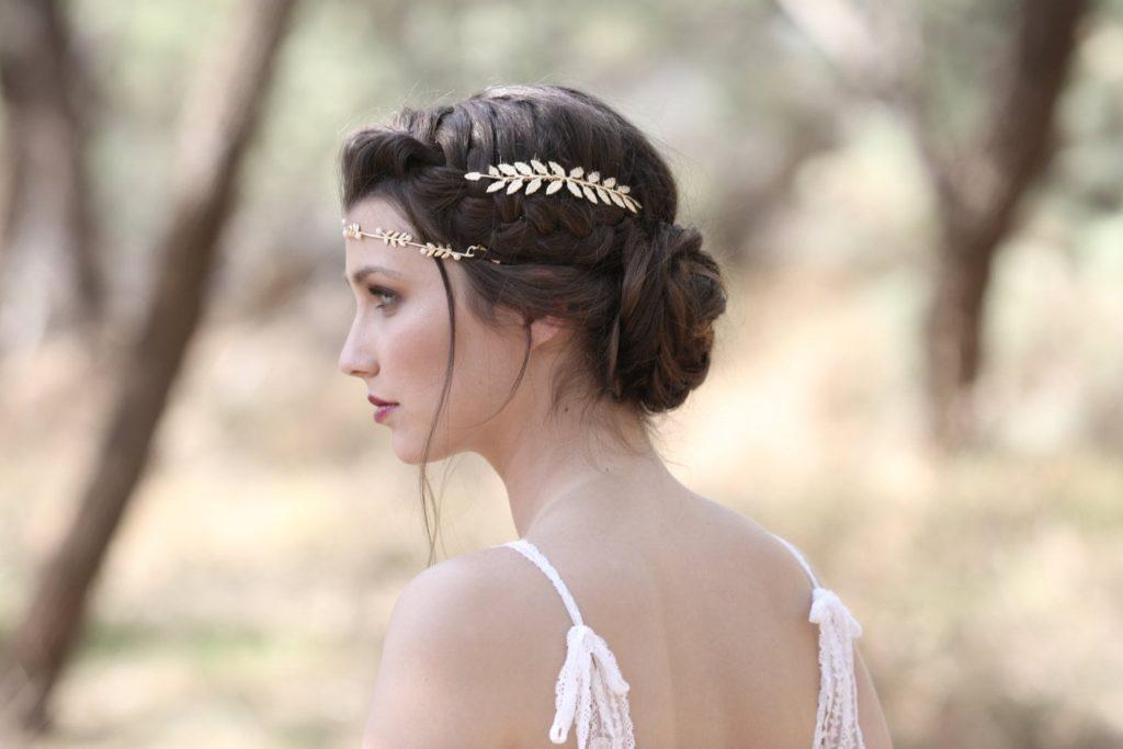 Прическа на свадьбе в Греции