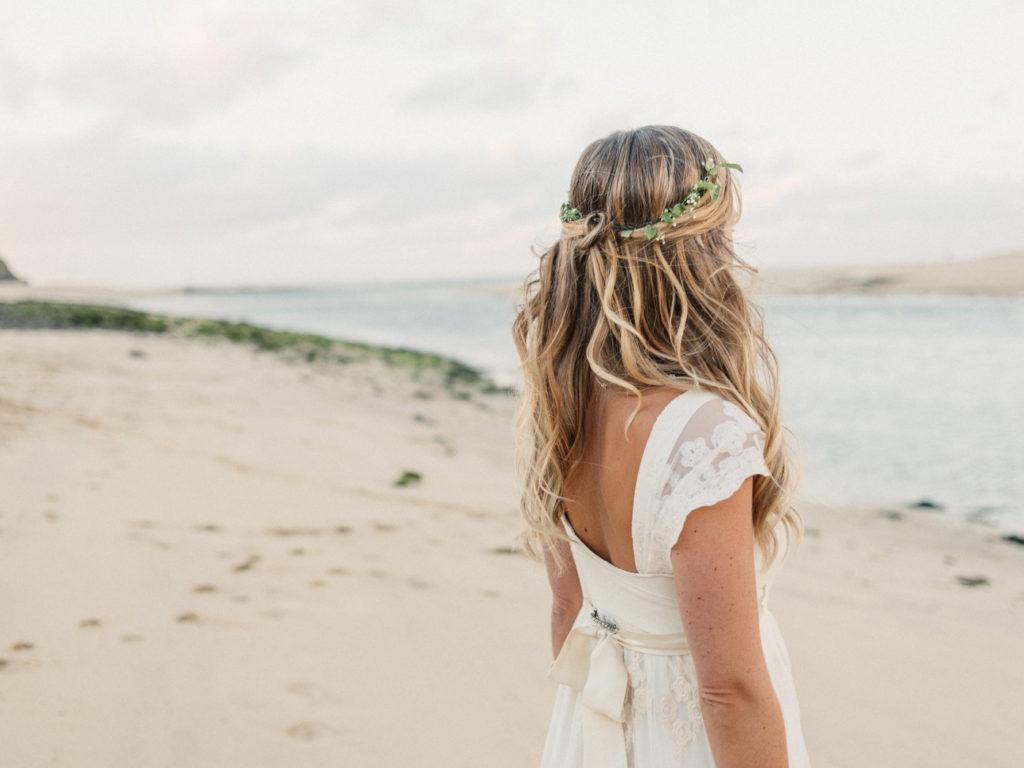 Прическа невесты на свадьбе в Греции