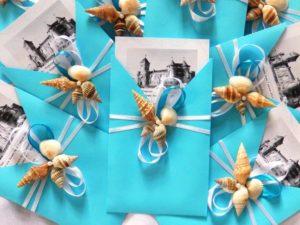 Пригласительные для гостей на свадьбу в бирюзовом цвете