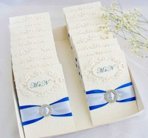 Пригласительные для гостей на свадьбу в бирюзовом стиле