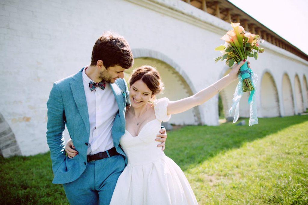 Свадебная фотосессия в бирюзовых тонах