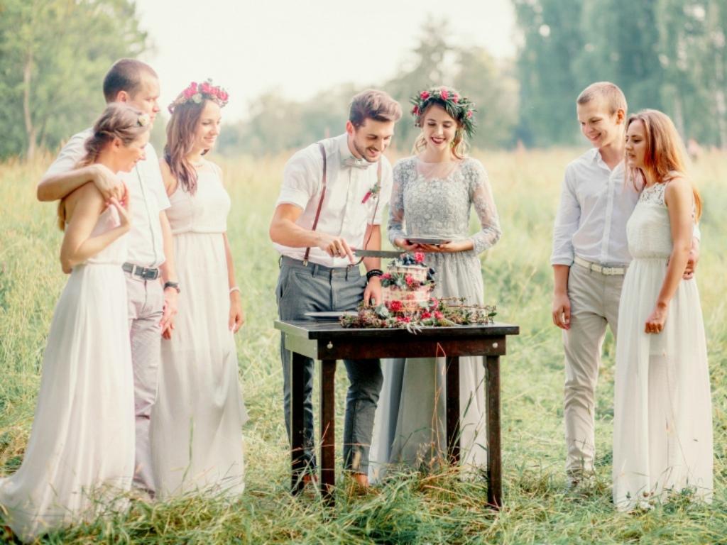 Свадебное торжество на природе