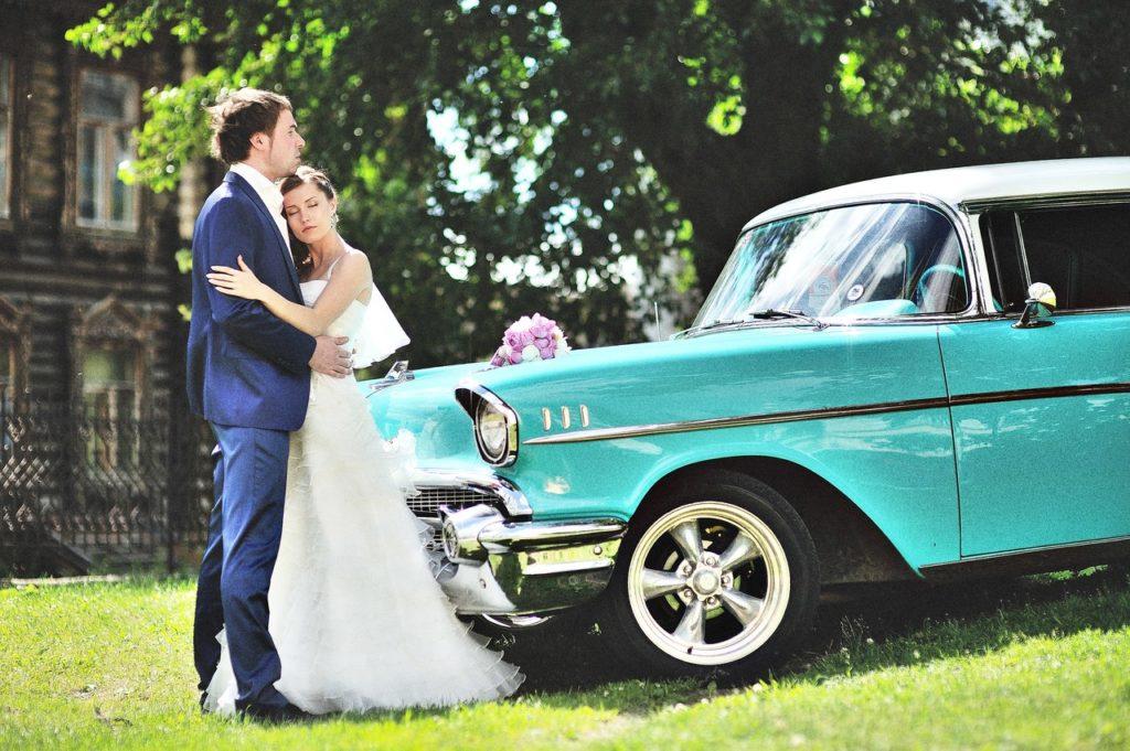 Свадебный кортеж в бирюзовом цвете