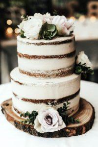 Торт для свадьбы рустик
