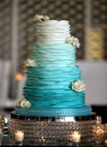 Торт на бирюзовую свадьбу