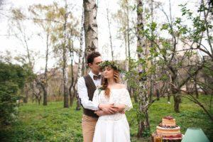 Весенняя свадьба в стиле рустик