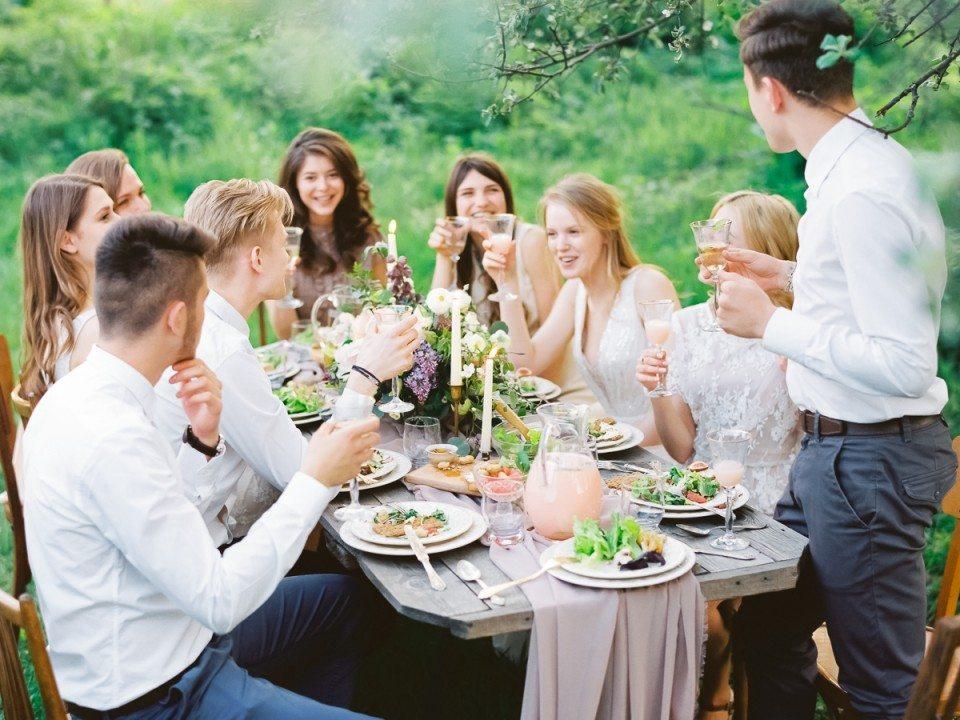 Второй день свадьбы на открытом воздухе